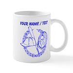 Custom Blue Baseball Icon Mug
