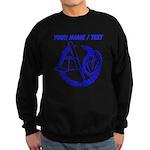 Custom Blue Baseball Icon Sweatshirt