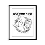 Custom Baseball Icon Framed Panel Print