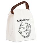 Custom Baseball Icon Canvas Lunch Bag