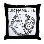 Custom Baseball Icon Throw Pillow