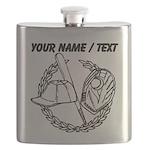 Custom Baseball Icon Flask