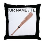 Custom Baseball Bat Throw Pillow