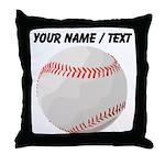 Custom Baseball Throw Pillow