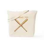 Custom Crossed Baseball Bats Tote Bag