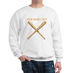 Custom Crossed Baseball Bats Sweatshirt