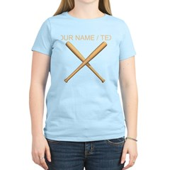 Custom Crossed Baseball Bats T-Shirt