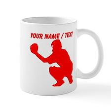 Custom Red Baseball Catcher Mug
