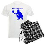 Custom Blue Baseball Catcher Pajamas