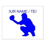 Custom Blue Baseball Catcher Posters