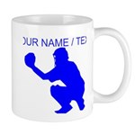 Custom Blue Baseball Catcher Mug