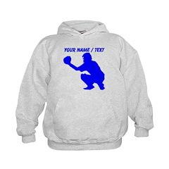 Custom Blue Baseball Catcher Hoodie