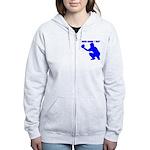 Custom Blue Baseball Catcher Zip Hoodie