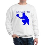 Custom Blue Baseball Catcher Sweatshirt