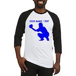 Custom Blue Baseball Catcher Baseball Jersey