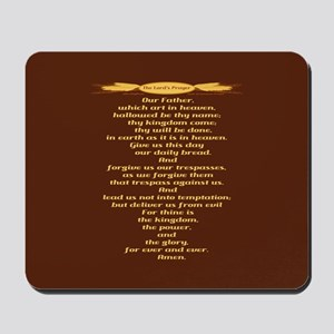 The Lords Prayer Wheat Mousepad