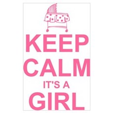 Keep Calm It's A Girl Wall Art Framed Print