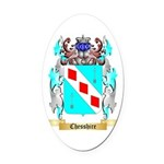 Chesshire Oval Car Magnet