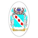 Chesshire Sticker (Oval 50 pk)