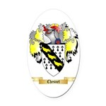 Chesnet Oval Car Magnet