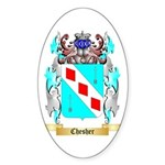 Chesher Sticker (Oval 50 pk)