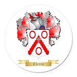 Cherrie Round Car Magnet