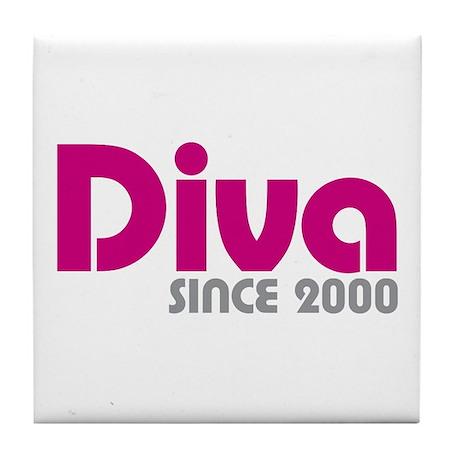 Diva since 2000 tile coaster by oddmatterattitude for Diva 2000