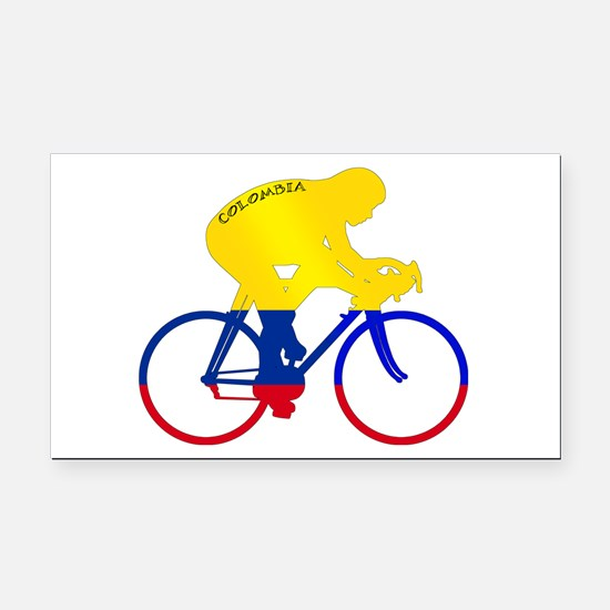 Colombian Cycling Rectangle Car Magnet
