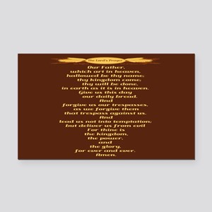 The Lords Prayer Wheat Rectangle Car Magnet