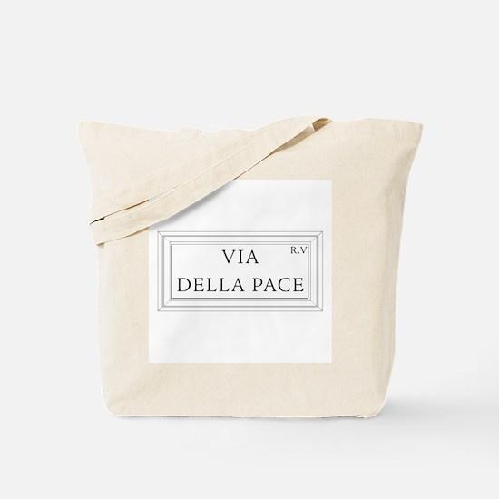 Via della Pace, Rome - Italy Tote Bag