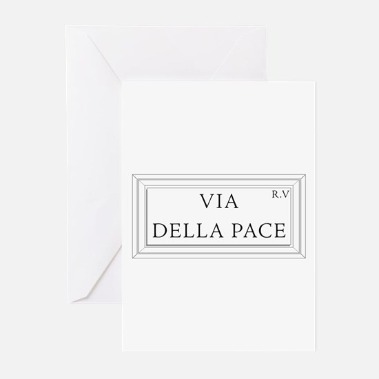 Via della Pace, Rome - Italy Greeting Cards (Packa