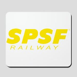 SPSF Railway Modern Herald Yellow Mousepad
