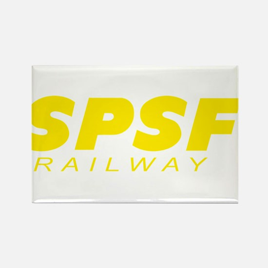 SPSF Railway Modern Herald Yellow Rectangle Magnet