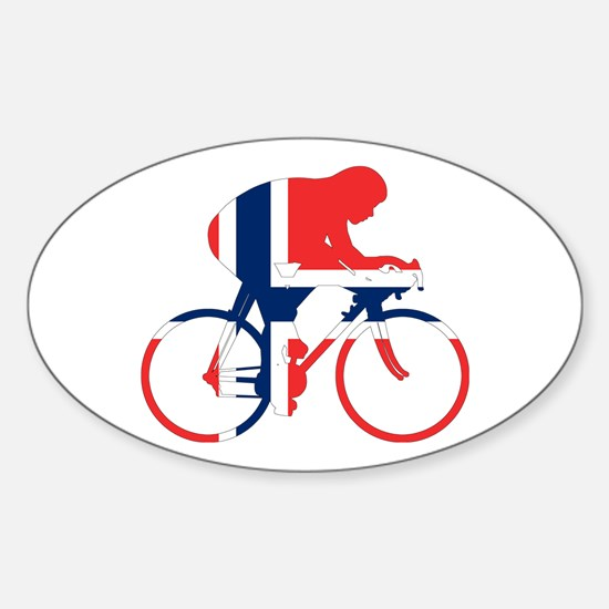 Norwegian Cycling Sticker (Oval)