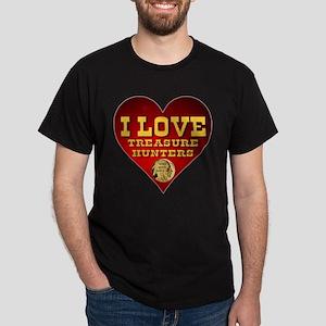 I Love Treasure Hunters Dark T-Shirt