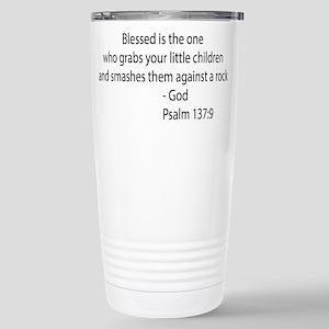 psalm 137.9 black Travel Mug