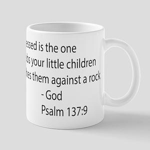 psalm 137.9 black Mug