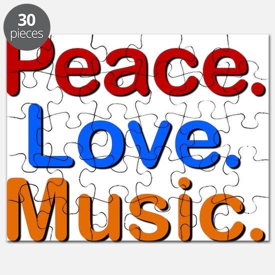 Peace Love Music Puzzle