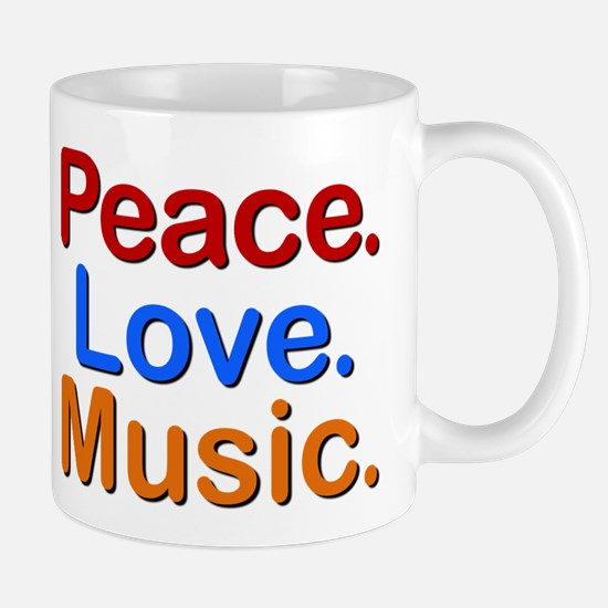 Peace Love Music Mug