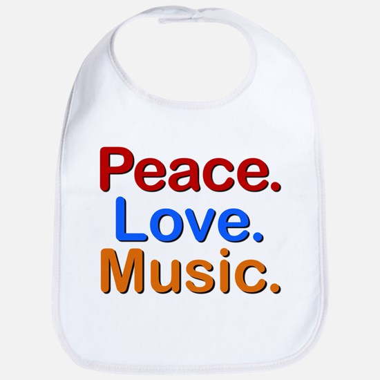 Peace Love Music Bib