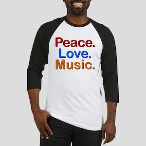 Peace Love Music Baseball Jersey