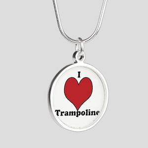 i love trampoline Necklaces