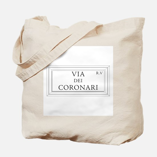 Via dei Coronari, Rome - Italy Tote Bag