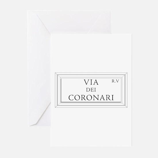 Via dei Coronari, Rome - Italy Greeting Cards (Pac