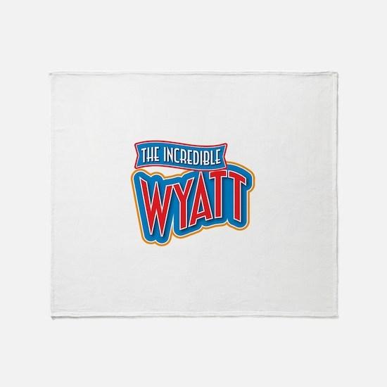 The Incredible Wyatt Throw Blanket