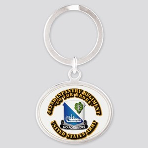 Army - DUI - 442nd Infantry Regt Oval Keychain
