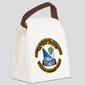 Army - DUI - 442nd Infantry Regt Canvas Lunch Bag