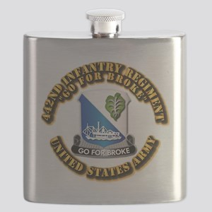 Army - DUI - 442nd Infantry Regt Flask