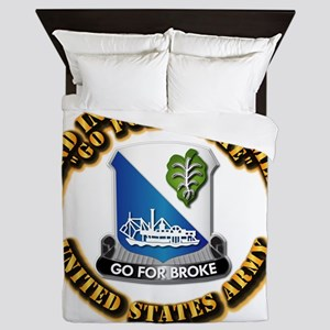 Army - DUI - 442nd Infantry Regt Queen Duvet