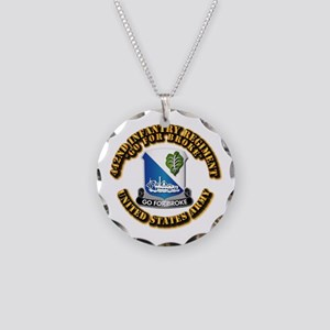 Army - DUI - 442nd Infantry Regt Necklace Circle C